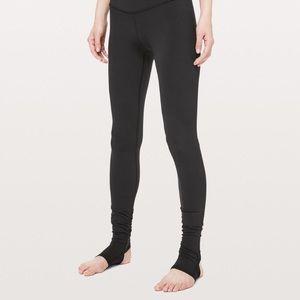 Black Lululemon Heel Strap Leggings
